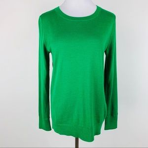 Banana Republic Green Merino Wool Sweater Medium